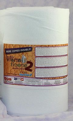 "Fusible Warm Fleece 2 Double Stick - 45"" (114cm) x 1m - Sold By The Metre"