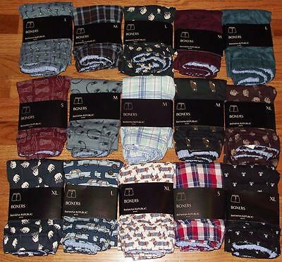 NEW NWT Mens Banana Republic Boxers Boxer Shorts Underwear CHOICE 15 Patterns
