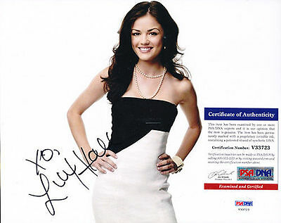 Psa/Dna Signed 8X10 Photo  Lucy Hale    4877