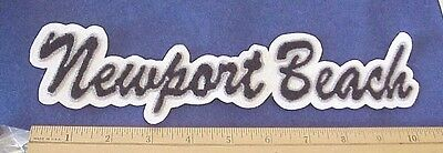 """Newport Beach California 10 1/2"""" Embroidered Sew On Patch"""