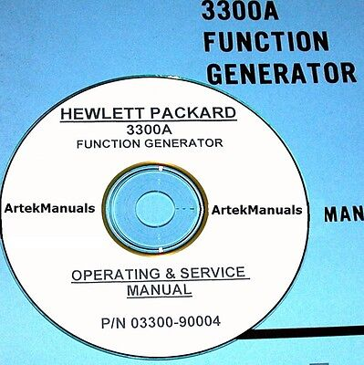 Hewlett Packard Ops & Service Manual w/schematics for 3300A Function Generator