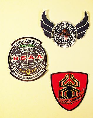 Set of 3 -  Resident Evil 6 Fabric Embroidered Patches