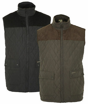 Mens Champion Arundel Bodywarmer Quilted Fleece Lined Warm Country Gilet S-3XL