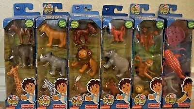 Go Diego Go 18 Animal Figures Safari Ocean & Monkey 6 Paks Rare 2007 L1728 *new*