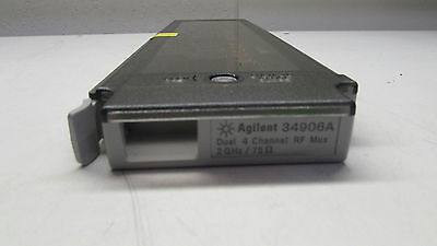 Agilent Keysight 34906A 2 GHz Dual 1:4 RF Mux, 75 Ohm Module for 34970A