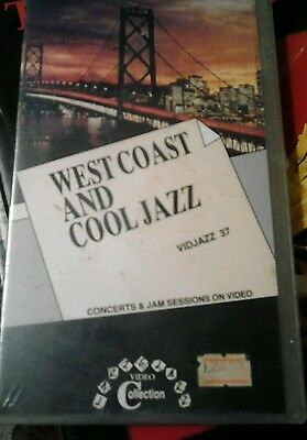 """WEST COAST AND COOL JAZZ""- VHS  sigilllata GREEN LINE"