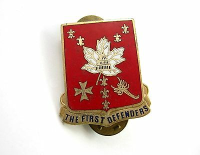 213th Air Defense Artillery Regiment The First Defenders Pin Vintage Enamel Red