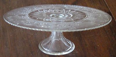 "Duncan and Miller Sandwich Glass 13"" Pedestal Cake Stand"