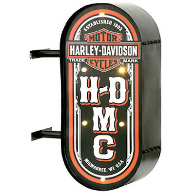 Harley Davidson Motorcycles Marquee Double-Sided Distressed Finish Led Pub Sign