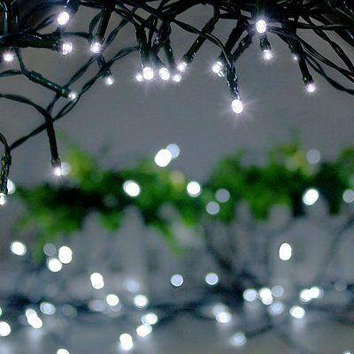 Solar Garden 100 LED Light String Powered Fairy Party Christmas Outdoor White