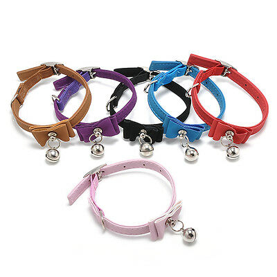 Pet Cat Kitten bow Soft Collar With Bell Adjustable Safety Buckle Neck Strap