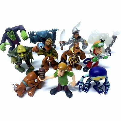 14pcs Toy Scooby Doo Shaggy Fred Velma Daphne Scheletro Vampire 2.5in. Figure
