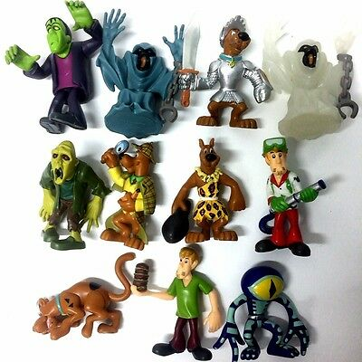 11x Movie Toy Scooby Doo Shaggy Fred Velma Daphne Scheletro Vampire Figure Doll
