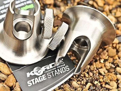 Korda NEW Carp Fishing Stainless Singlez Stage Stands x2 - KSING15