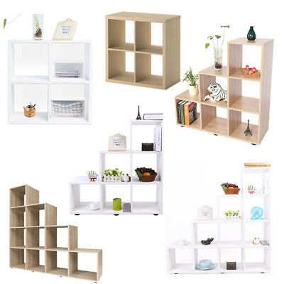 Wooden1/2/ 3 /4 Tiers Bookcase Shelf Standing Book Shelves Storage Display Unit