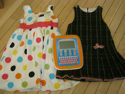 GIRLS CLOTHES SIZE 4 PLUS A learn & go tablet