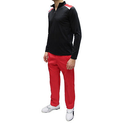 Wilson Staff Men's Performance Thermal Tech Layer, pitch black-performance red