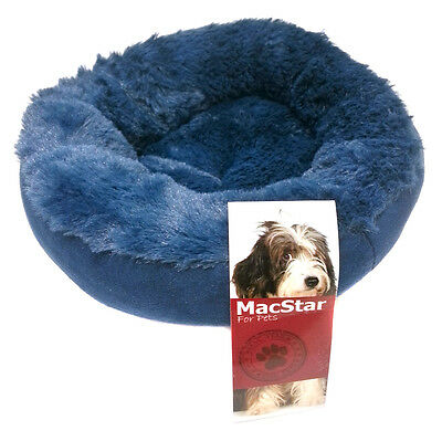 "Cat / Dog / Kitten / Pet Small Animal Blue Warm Fleece Faux Fur Bed Cradle 8"" XS"
