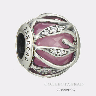 Authentic Pandora Sterling Silver Nature's Radiance Pink Clear CZ Bead 791969PCZ
