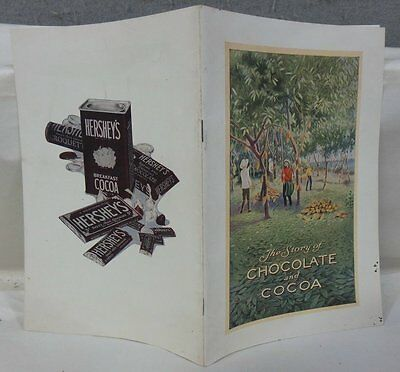 Vintage 1926 Hershey Chocolate Candy Advertising Story Of Chocolate & Cocoa Book