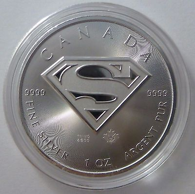 2016 Canadian 1 oz Canadian Superman .9999 Silver Bullion Coin
