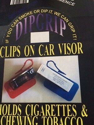 Dip Grip Car Visor Tobacco Kodiak Grizzly Skoal Chew Snuff Holder Asst.Colors