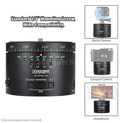 Sevenoak 360° Panorama 6 Hours Panning Rotating Time Lapse Timer Tripod Adapter