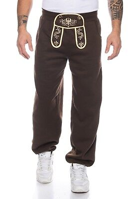 Finchman Terry Trousers Traditional Costume Jogging Pants Sweatpants Leather