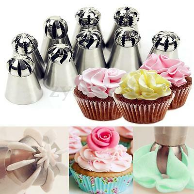 Russian Flower Icing Piping Nozzles Tips Pastry Cupcake Cake Decor Sphere Ball