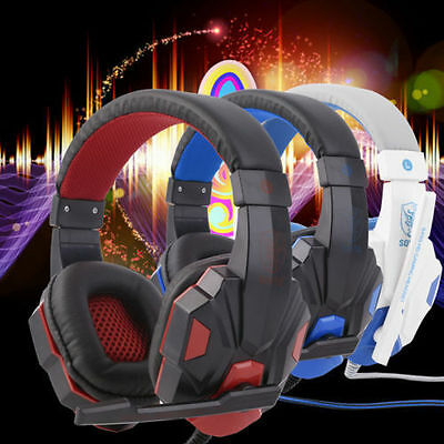 3.5mm Surround Stereo Gaming Headset Headband Headphone with Mic for PC FJ