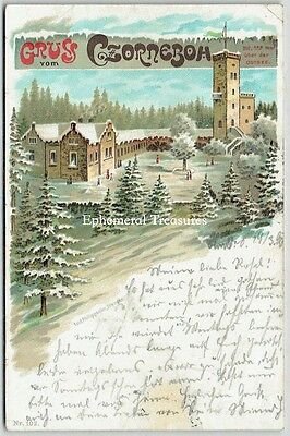 1899 Gruss Aus Postcard, Czorneboh, Germany.   Undivided back.