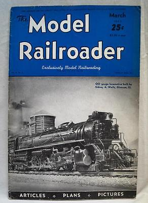 The Model Railroader Magazine March 1943 Wwii Vintage Train Railroad Hobby