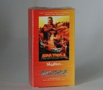 Skybox Star Trek II The Wrath of Khan complete trading card set still sealed