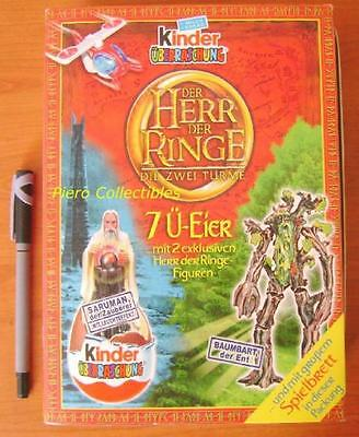 Lord Rings Two Towers Box-Book 3D Figurines Kinder
