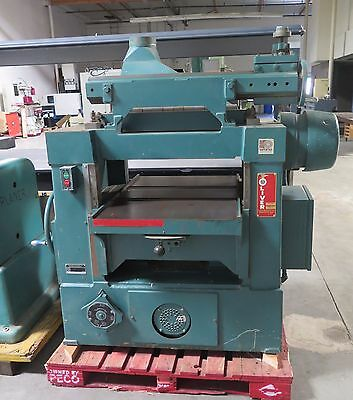 "Oliver Model 299-D 24"" Wood Planer 7-1/2 Hp Nice Made in USA"