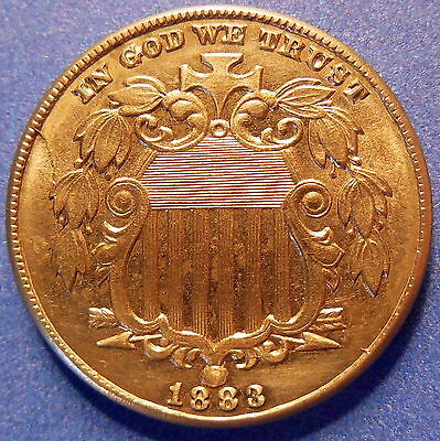 1883 Shield Nickel Mint State Uncirculated MS Five Cent #2067