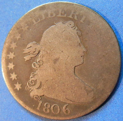 1806 Draped Bust Quarter Good G US Type Coin #4089