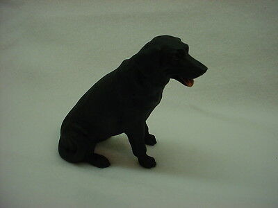 BLACK LAB FIGURINE dog HAND PAINTED Resin Statue Puppy NEW Labrador Retriever