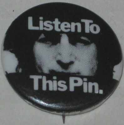 "John Lennon ""Listen To This Pin"" Record Promo Approx 1"""