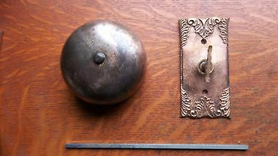 Antique Victorian Mechanical Doorbell & Fancy Cast Brass Twist  c1885