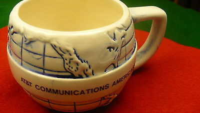 AT&T communications America ceramic globe mug cup Americas Inc  B.K. Inc