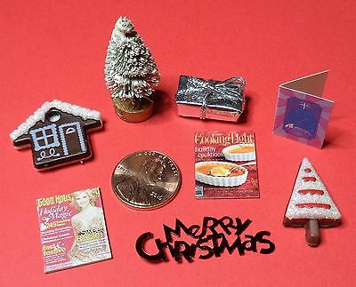 Lot of Dollhouse Miniatures for Christmas