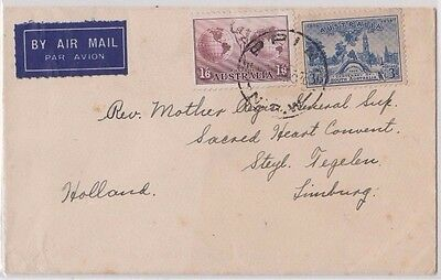 Stamps Australia various on cover sent airmail Epping to Limburg Holland