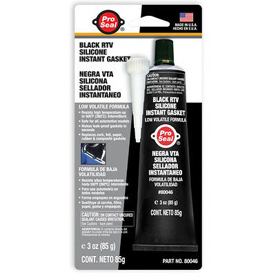 Pro Seal Black Rtv Silicone Instant Gasket Waterproof Seal Automotive Car Engine