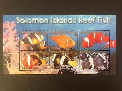 Solomon Islands 2001 Reef Fish Mini Sheet SG MS1002 MNH
