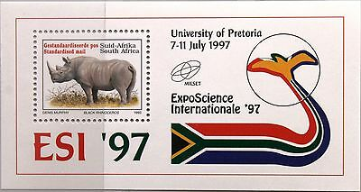 RSA SÜDAFRIKA SOUTH AFRICA 1997 Block 60 EXPO Science 97 Nashorn Pretoria MNH