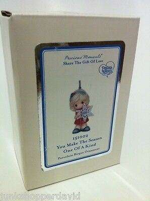 Precious Moments 2015 DATED Ornament You Make The Season One of a Kind porcelain