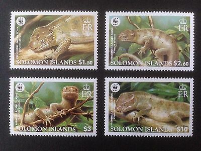 Solomon Islands 2005 WWF Skinks Set SG 1162-1165 MNH