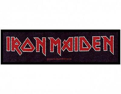 IRON MAIDEN logo 2011 - WOVEN STRIP SEW ON PATCH (sealed)