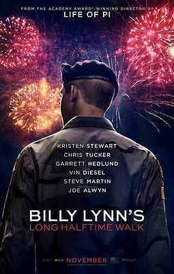 Billy Lynn's Long Halftime Walk - original DS movie poster - D/S 27x40